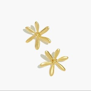 Madewell floral garden stud earring